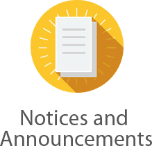 Notices and Announcements