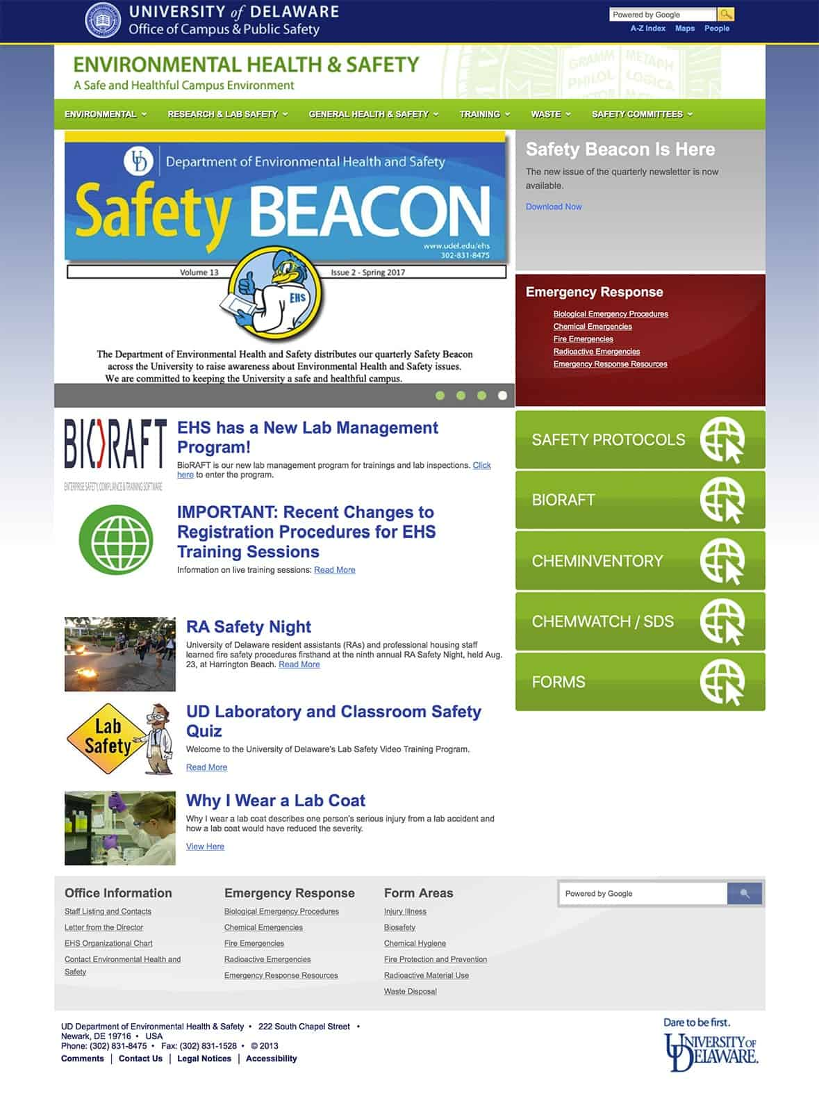 Health and Safety Website