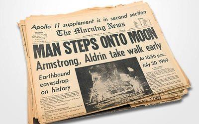 1969 – The Morning News: Man Steps onto Moon