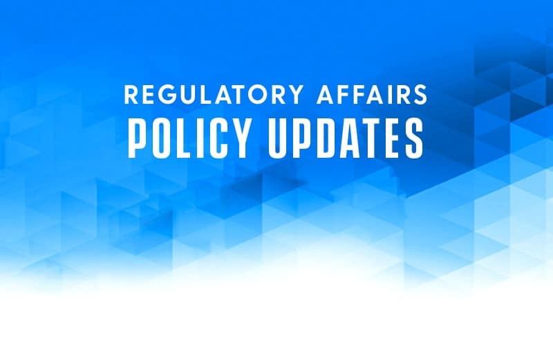 regulatory affairs policy updates