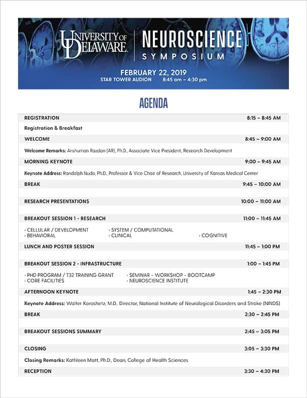 Neuroscience Symposium Agenda