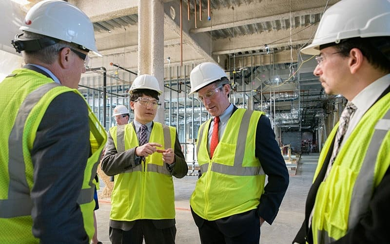Governor Carney tours biopharmaceutical building site