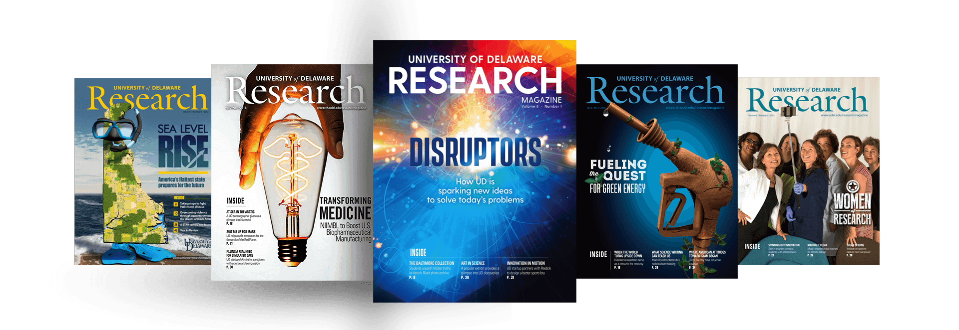 UD Research Magazine Covers