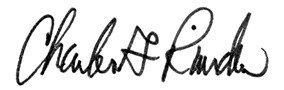 Charles G. Riordan Signature
