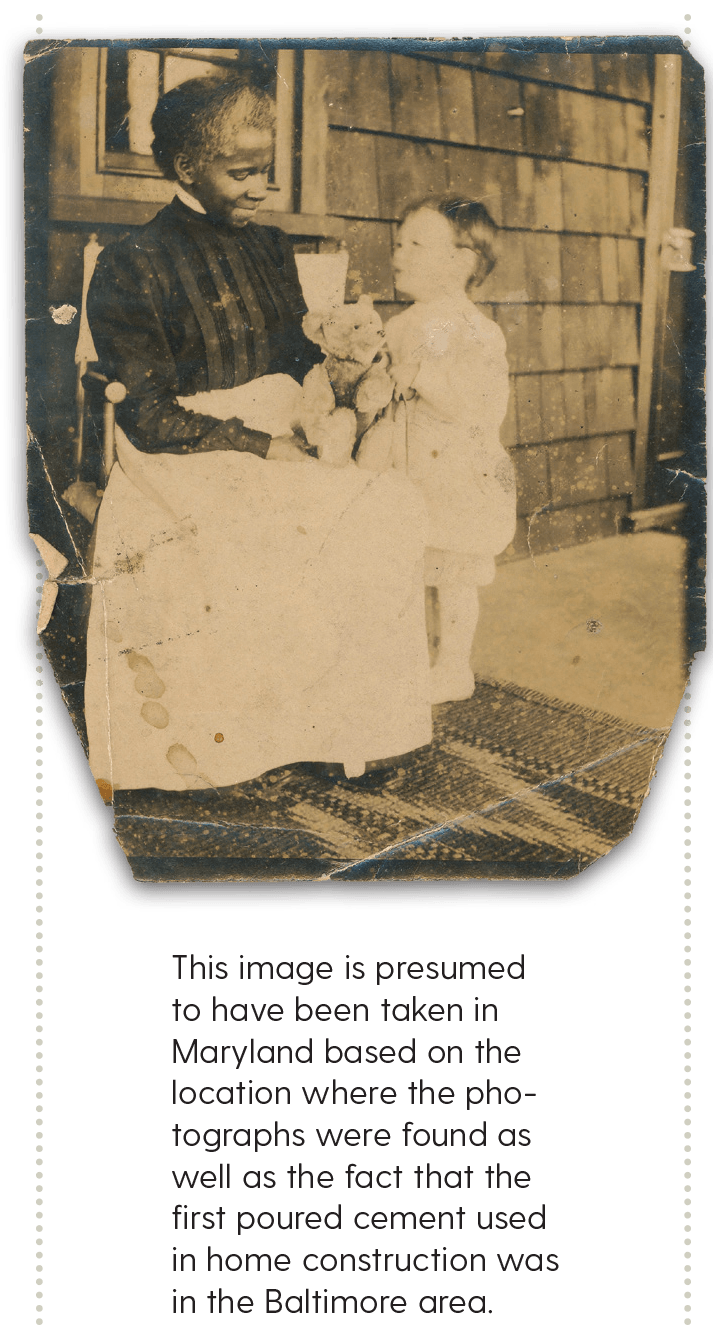 This image is presumed to have been taken in Maryland based on the location where the photographs were found as well as the fact that the first poured cement used in home construction was in the Baltimore area.