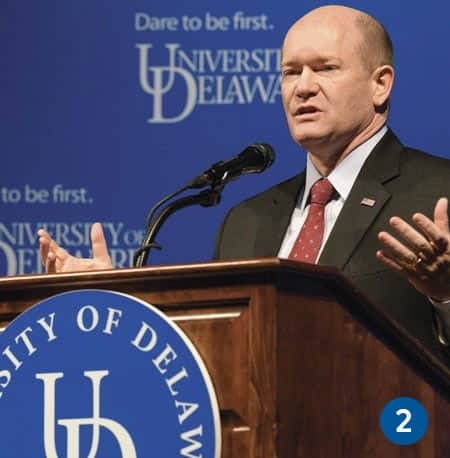 U.S. Sen. Chris Coons championed creation of the Manufacturing USA Network, which is geared to increase U.S. competitiveness in manufacturing.